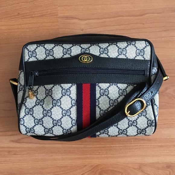 64eb4ca65f Vintage Gucci GG Monogram Small Crossbody Bag